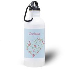 Botella de agua personalizada con Dama de Honor de las flores