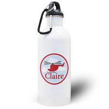 Botella de agua personalizada para niños con Helicóptero
