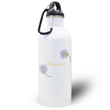 Botella de agua personalizada con margaritas