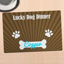 Alfombrilla de comida personalizada para mascota diseño