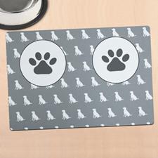 Alfombrilla de comida personalizada para mascota