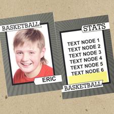 Aro de baloncesto personalizados Foto Tarjetas de intercambio Set de 12