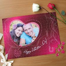Personalizado Be My Valentine 30.48 cm x 41.91 cm Photo Puzzle