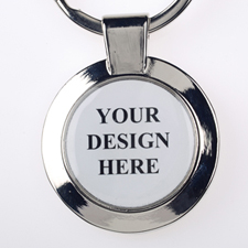 Custom Imprint Full Color Round Metal Keychain (Small)