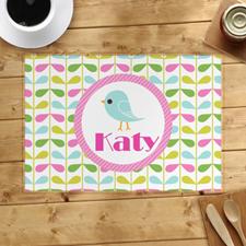 Alfombrilla personalizada para pájaros