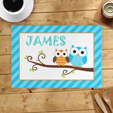Alfombrilla personalizada de azul  Owl