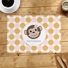 Alfombrilla personalizada de la niña mono