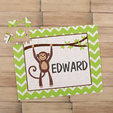 Monkey Personalized Kids Puzzle