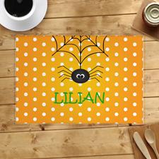 Alfombra de Halloween personalizada de Spider Web
