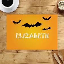 Alfombra de Halloween personalizada con murciélagos