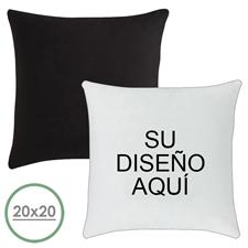 50.80 cm x 50.80 cm Cojín de diseño personalizado (respaldo negro) Cojín (sin inserción)