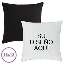 45.72 cm x 45.72 cm Cojín de diseño personalizado (respaldo negro) Cojín (sin inserción)