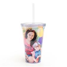 Diseño personalizado foto acrílico doble pared vaso