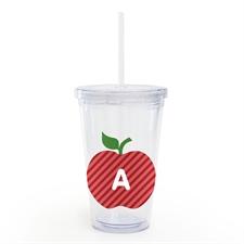 Vaso personalizado personalizado rojo Apple con aislamiento para maestros