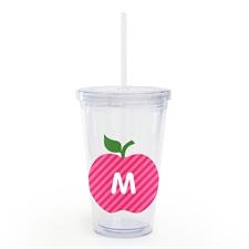 Vaso de acrílico personalizado personalizado de Apple rosa maestro
