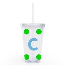 Diseñe su propio vaso con aislamiento de puntos grandes verde lima