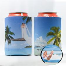 enfriador de lata  personalizado para la boda