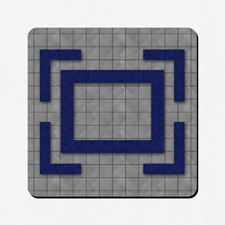 Diseño personalizado 45.72 cm X 45.72 cm Tapete de juego