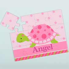 Flower Turtle Personalized Kids Puzzle