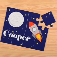 Rocket Personalized Kids Puzzle
