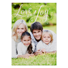 Love And Joy Personalized Photo Christmas Card