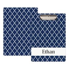 Portapapeles personalizado cuatrifolio azul marino