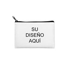 Bolsa cosmética personalizada a todo color con cremallera negra (misma imagen) 8.8x15.24