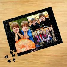 Personalizado negro 3 colage 30.48 cm x 41.91 cm Photo Puzzle