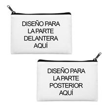 Bolsa cosmética personalizada a todo color con cremallera negra (Imagen diferente) 8.8x15.24