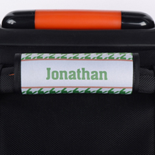 Envoltura de asas de equipaje personalizada de patrón pato de gallo verde