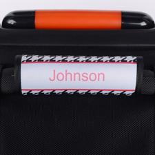 Envoltura de asas del equipaje personalizada de patrón de pata de gallo negro