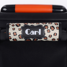 Leopard Personalized Luggage Handle Wrap