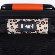 Envoltura de asas de equipaje personalizada de estilo leopardo