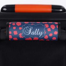 Envoltura de asa de equipaje personalizada con estilo Leopardo rojo marino