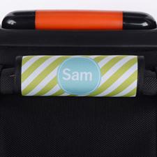 Envoltura de asas de equipaje personalizada con raya color lima