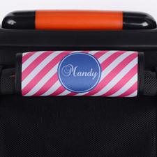 Envoltura de equipaje personalizada a rayas rosas