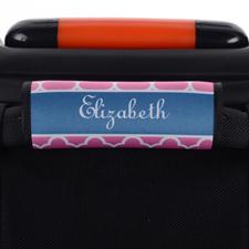 Envoltura de asa de equipaje personalizada de trébol rosa