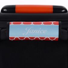 Envoltura de asa de equipaje personalizada de trébol rojo
