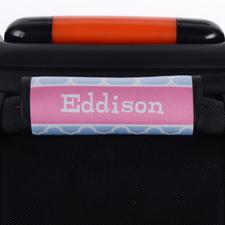 Aqua Clover Personalized Luggage Handle Wrap