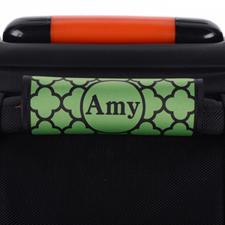 Envoltura de asas de equipaje personalizada de trébol verde