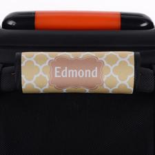 Envoltura de asas de equipaje personalizada con trébol marrón
