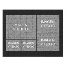 Personalizado negro 5 colage 30.48 cm x 41.91 cm Photo Puzzle