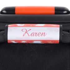 Watercolor Floral Personalized Luggage Handle Wrap
