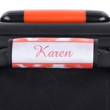 Envoltura de asa de equipaje personalizada floral de acuarela