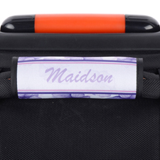 Purple Pansy Personalized Luggage Handle Wrap