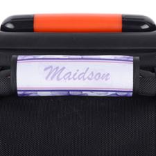 Envoltura de equipaje personalizada de Purple Pansy (morado)