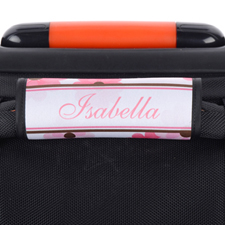Pink Floral Personalized Luggage Handle Wrap
