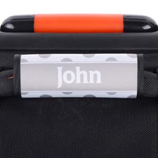 Black Grey Polka Dot Personalized Luggage Handle Wrap