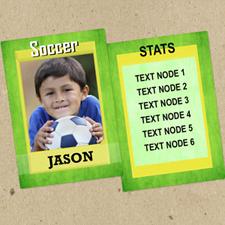 Juego de 12 tarjetas de intercambio de fotos de Green Soccer personalizados
