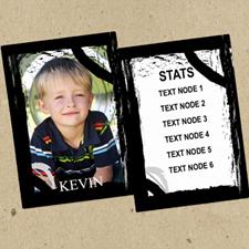 Juego de 12 tarjetas de intercambio de fotos personalizadas con marco negro